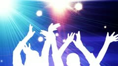 Concert performing at a disco rave ( series 3 version + 1 to 20 ) Stock Footage