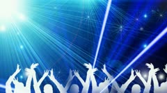 Concert performing at a disco rave 16 Stock Footage