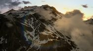 Mountain Sunrise Through the Clouds Stock Footage