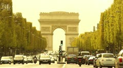 "Some scenes of daily Paris,  ""Champs-Elysees"" - stock footage"