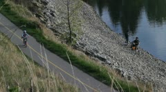 Fishing and bikes 2 Stock Footage