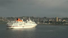 Puerto Montt expedition ship s Stock Footage