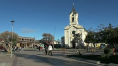 Patagonia Puerto Natales church s Stock Footage