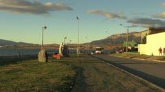 Patagonia Puerto Natales bus s Stock Footage