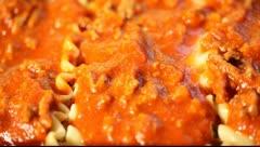 Making lasagna Stock Footage