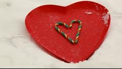 Winter valentine Stock Footage