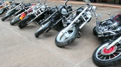 Motorcycles Laying on the Ground in New York Stock Video Stock Footage