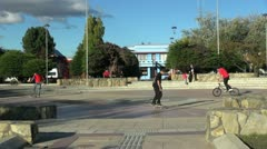 Patagonia Puerto Natales plaza s Stock Footage