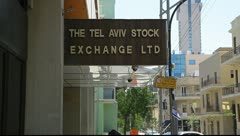 Israel Tel Aviv Stock Exchange TASE Stock Footage