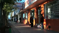 Patagonia Puerto Natales downtown shops s Stock Footage