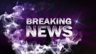 BREAKING NEWS Text in Particle (Double Version) Blue - HD1080 Stock Footage