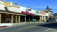 Stock Video Footage of Mariposa California- Main Street Businesses 1
