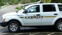 Mariposa County Sheriff SUV - stock footage