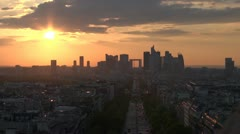Some scenes of daily Paris, panoramic view - stock footage