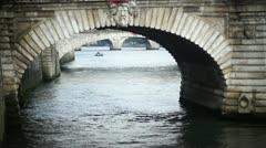 Famous bridge on the Seine Stock Footage