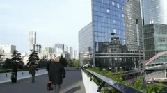Some scenes of daily Paris, La Defense - stock footage