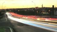Traffic Jam - Urban night 3 Stock Footage