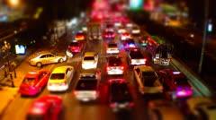 Night Bangkok Traffic - Timelapse Stock Footage