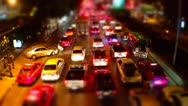 Night Bangkok Traffic - Timelapse Stock Footage