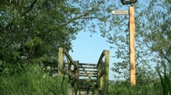 Thames Path Oxfordshire Stock Footage