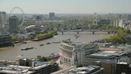 London and Thames river from up high Stock Footage