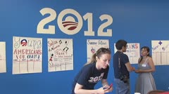 2012 Obama Election Campaign Office Stock Footage
