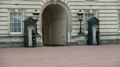 Guards at Buckingham Palace 2 Stock Footage