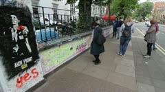 People outside Abbey Road Studios Stock Footage