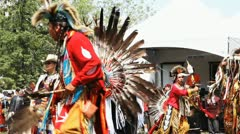 Canadian First Nations Pow Wow Dance Stock Footage
