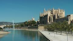 Cathedral La Seu, Mallorca (Majorca) Stock Footage