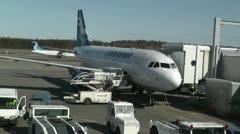 Helsinki Vantaa Airport 08 handheld Stock Footage