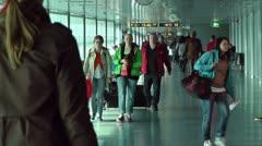 Helsinki Vantaa Airport 13 handheld Stock Footage