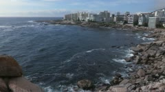 Wide shot of Bantry Bay, Cape Town Stock Footage