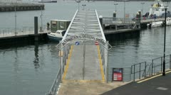 Barbican Landing Stage, Plymouth, UK Stock Footage