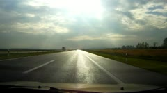 Car driving on highway time lapse Stock Footage