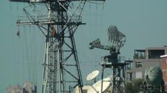 Military Radar in Wooloomooloo Bay Sydney 01 Stock Footage