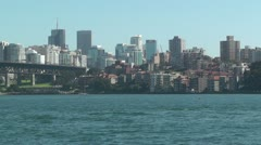 North Sydney view 01 Stock Footage