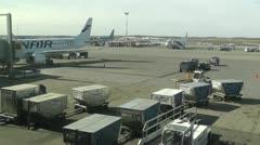 Helsinki Vantaa Airport 18 handheld Stock Footage