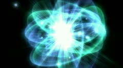 Tech science energy radiation rays ripples star explosion,particle fireworks. Stock Footage