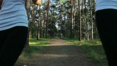 Training in park Stock Footage