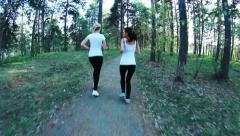 Workout in park Stock Footage