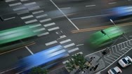 Stock Video Footage of Timelapse of city traffic with crosswalk and cars