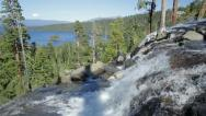 Eagle Falls and Emerald Bay, Lake Tahoe (slow motion) Stock Footage