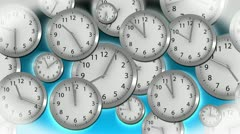 Time Flies - Clock 37 (HD) Stock Footage