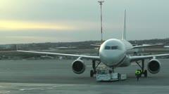 Rossyia Airlines at Helsinki Vantaa Airport 01 handheld Stock Footage