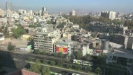 Spain Galicia Santiago city view from window 4 Stock Footage