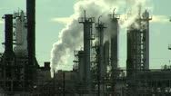 Stock Video Footage of Oil Refinery Emissions