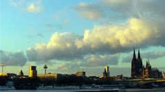 Cologne city timelapse Stock Footage