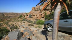 4x4 Off Road Driving, Namaqualand Desert 04 GFHD Stock Footage