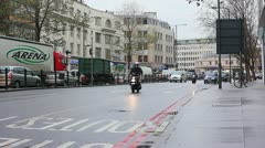 London cabs in traffic Stock Footage